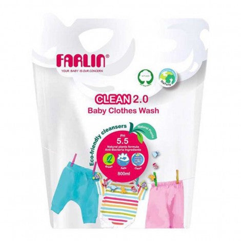 Farlin Baby Clothing Detergent Refill Pack - 800ml