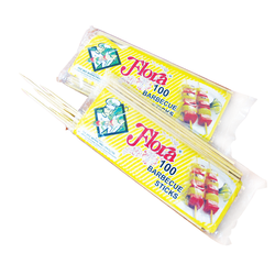Flora Wooden BBQ Sticks - 3 Pack Bundle