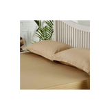 Queen Bed Sheet with Pillow Cases - Self Striped