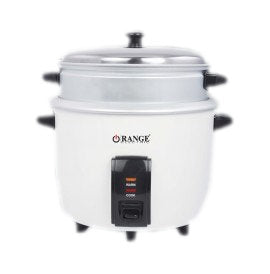 Orange Electric Rice Cooker & Steamer