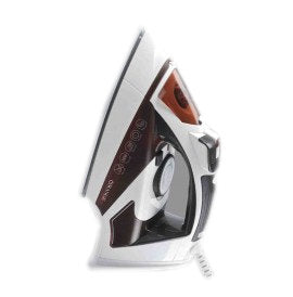 Orange Electric Steam Iron 2200W Ceramic Sole-plate