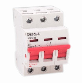 Orange Electric Sigma Series Isolator - 3 Pole