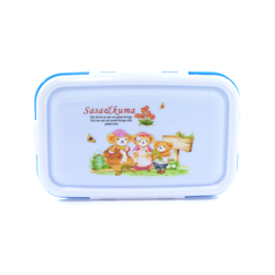 Divided Lunch Box with Spoon (Small)