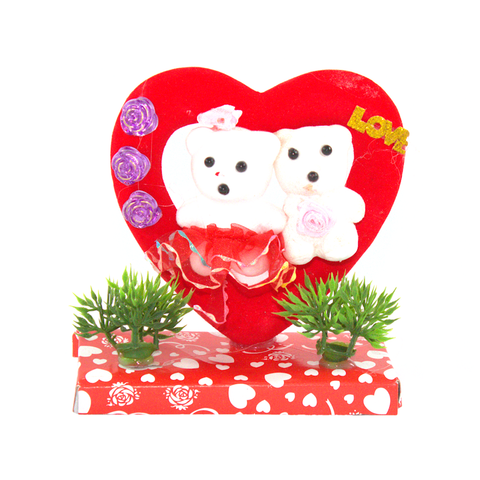 Plush Red Heart Gift Ornament