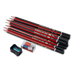 Nataraj 621 Ruby HB Pencils - 12pcs