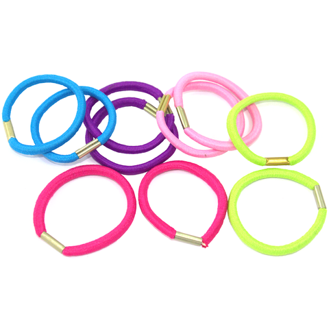 Assorted Color Hair Ties - 10pcs
