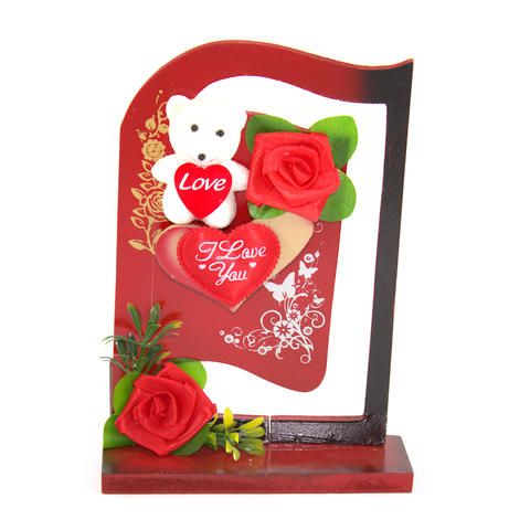 Wooden Frame Shaped Table Ornament