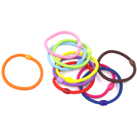 Hair Ties With Bead - 10pcs