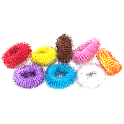 Fuzzy Hair Ties - 8pcs