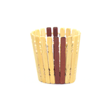 Double Color Wood Finish Basket (Small)