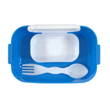 2 in 1 Lunch Box with Double-Sided Fork & Spoon