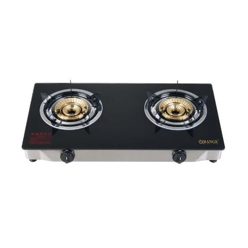 Orange Electric LPG Gas Cooker - Double Burner
