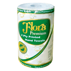 Flora Premium 2 Ply Hand Towel - 5 Roll Bundle