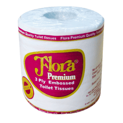 Flora Premium 3 Ply Toilet Tissue Rolls - 5 Roll Bundle