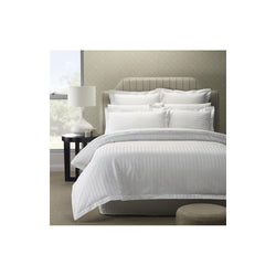 King Bed Sheet with Pillow Cases - Self Striped