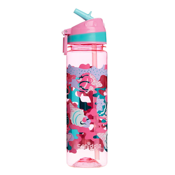 Smiggle Chaos Drink Up Straight Bottle - Pink