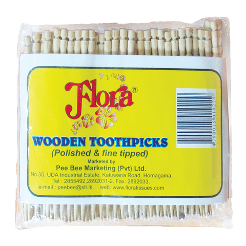 Flora Wooden Toothpicks - 5 x 500 Nos Packs