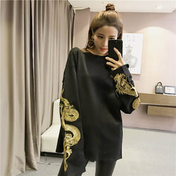 Dragon Dynasty Long Sleeve Shirt (High Quality Embroidered Sleeves)