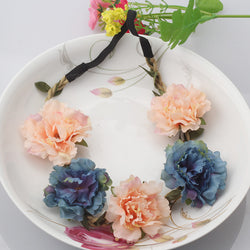 """Spring Flower Crown"" Headband"