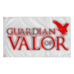 Guardian of Valor Red Logo Wall Flag