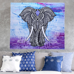 Majestic Elephant Wall Art on Polyester