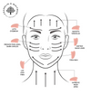 Rose Quartz Gua Sha instruction card for skincare
