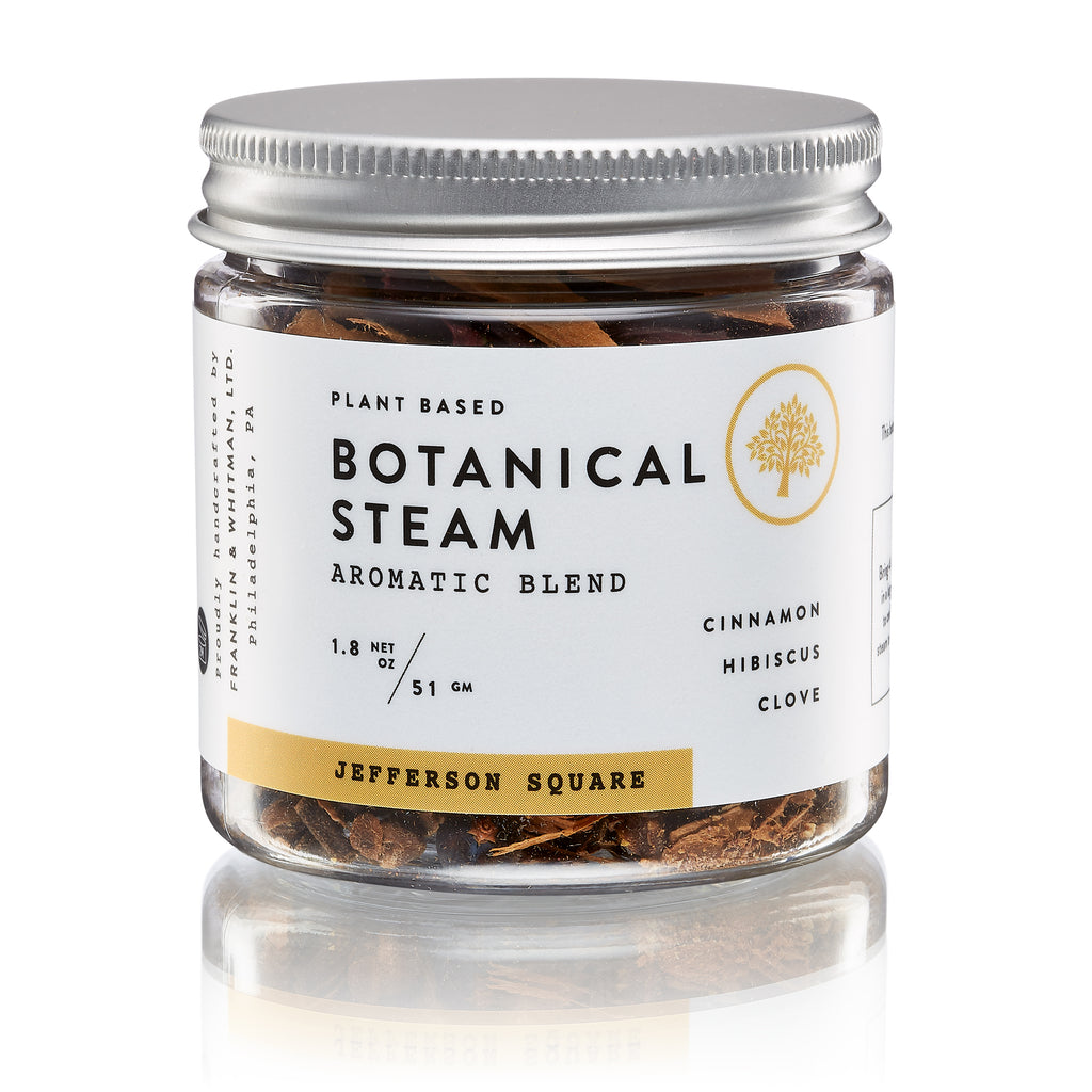 Vegan, plant based, cruelty free Jefferson Square Botanical Steam jar for skin care