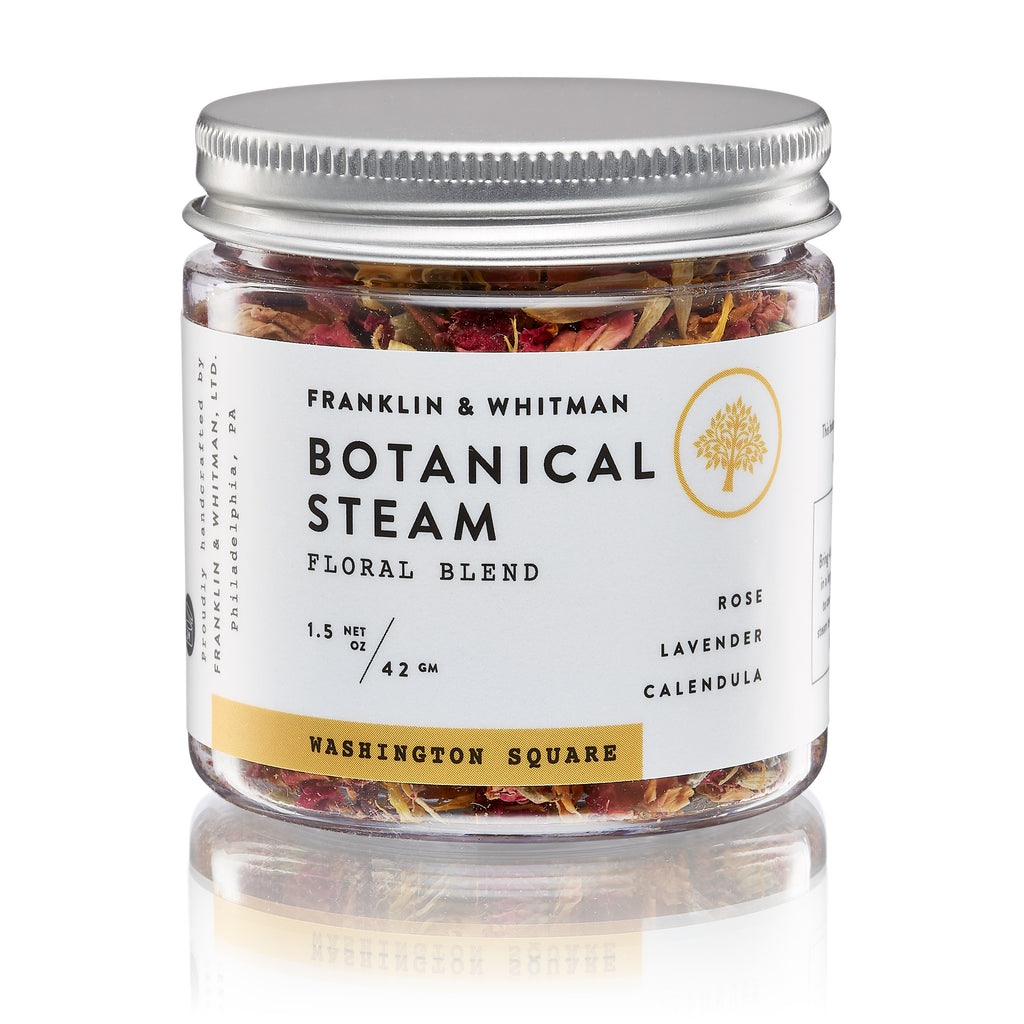 Vegan, plant based, cruelty free Washington Square Botanical Steam jar for skin care