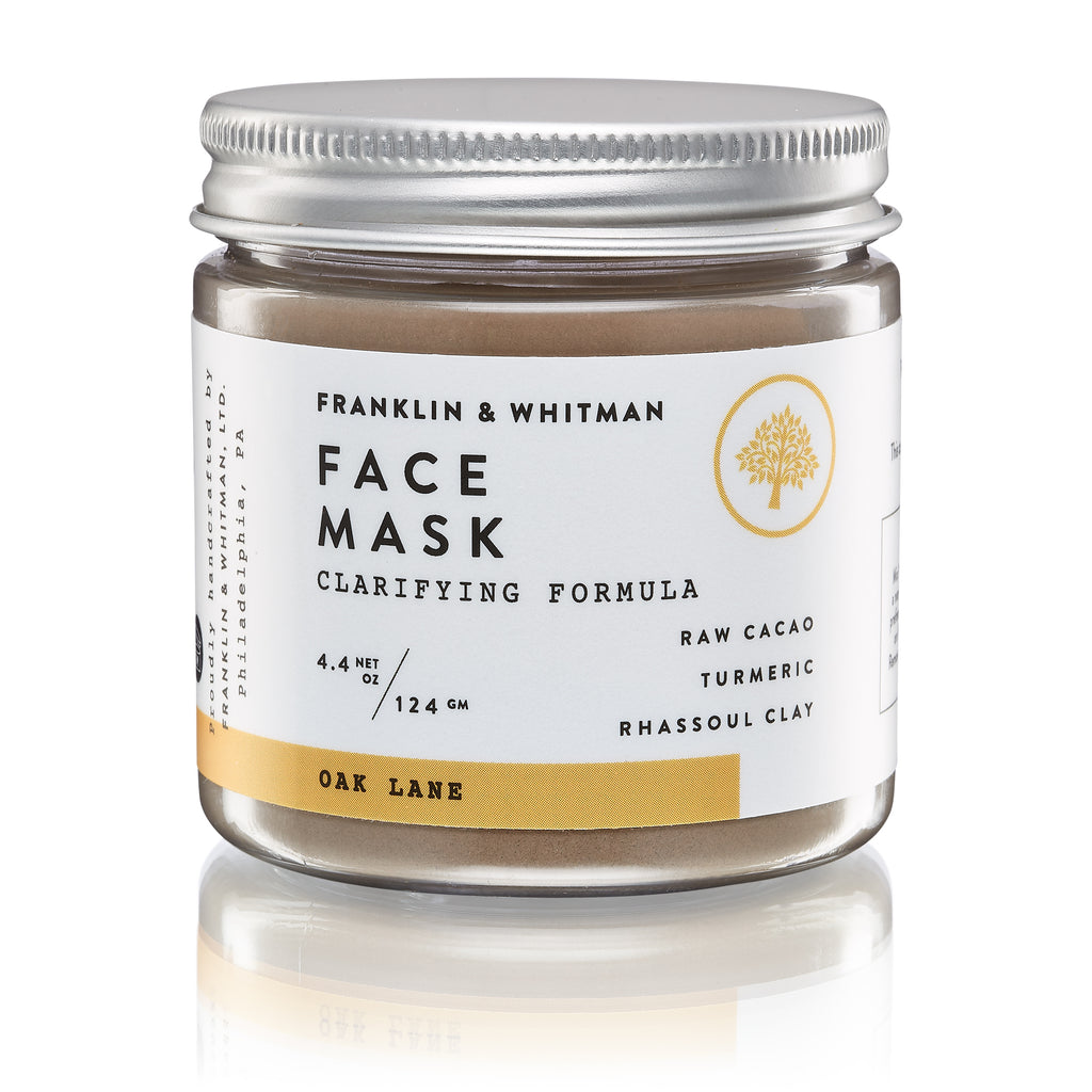 Vegan, plant based, cruelty free Oak Lane Face Mask jar for skin care