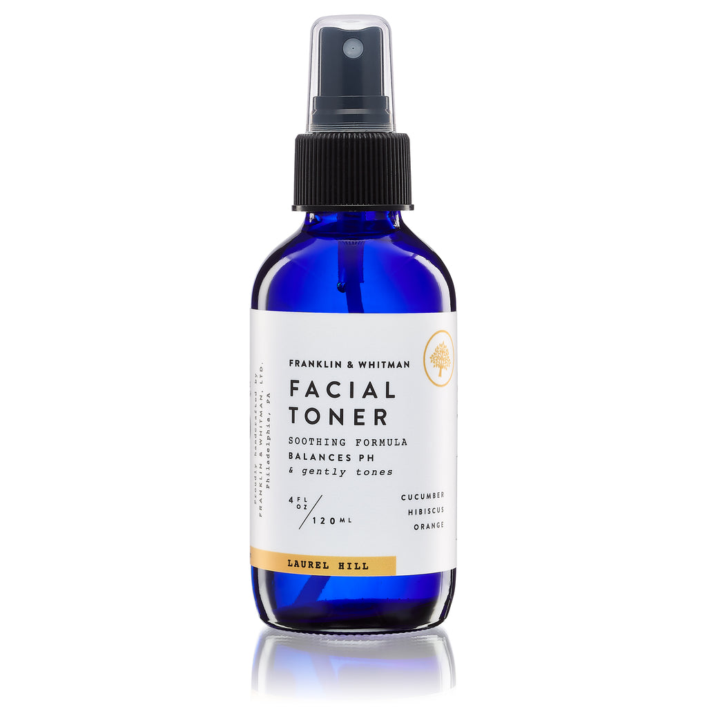 Vegan, plant based, cruelty free Laurel Hill Facial Toner bottle for skin care
