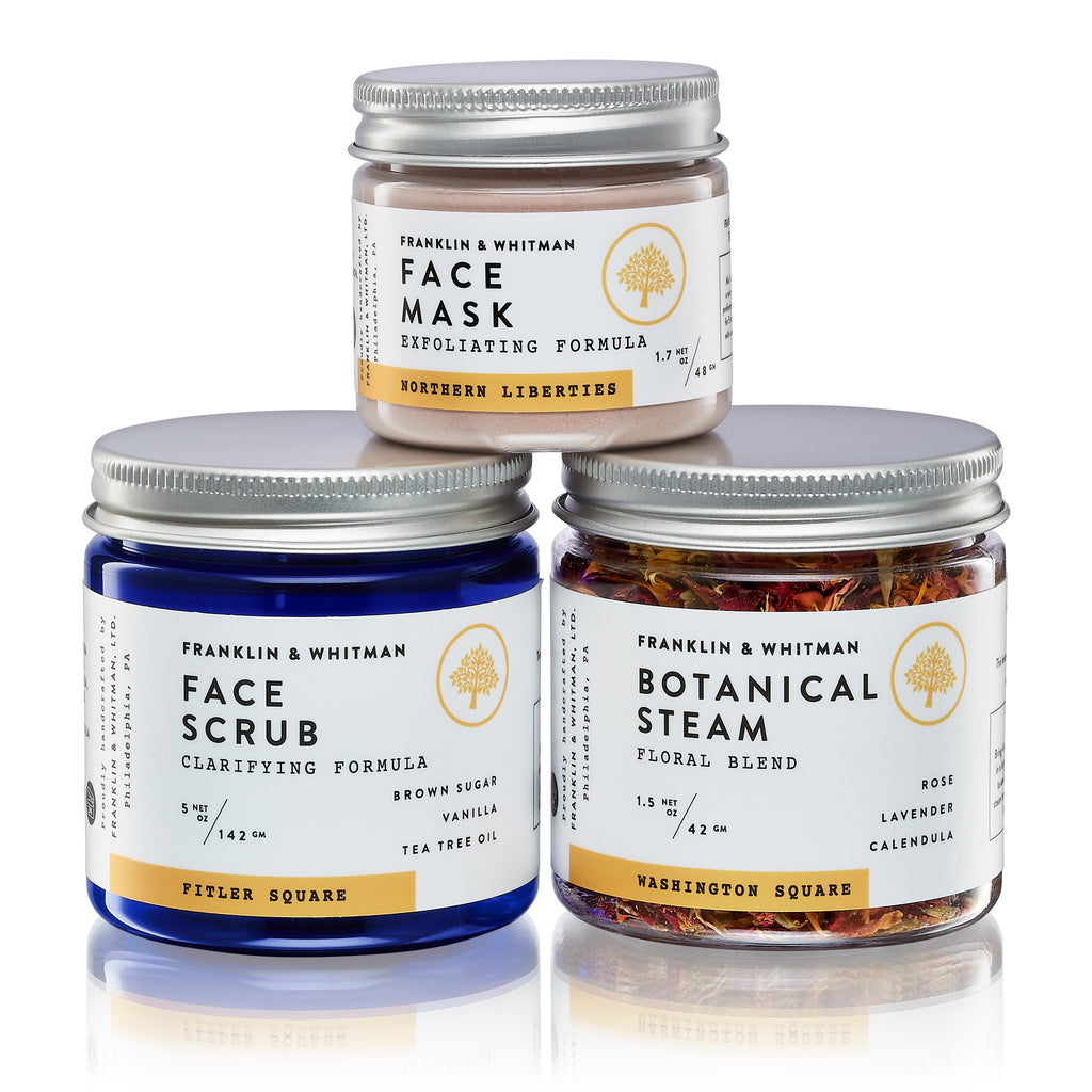 Vegan, plant based, cruelty free Weekly Face Care Kit jars for skin care