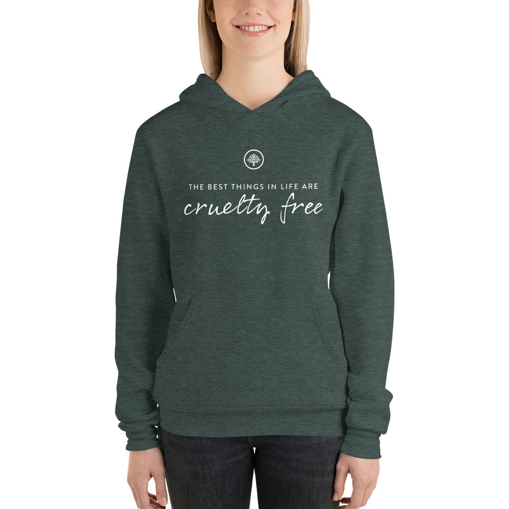 Best Things In Life Are Cruelty Free Hoodie
