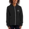 Woman wearing Franklin & Whitman zip up hoodie in Black