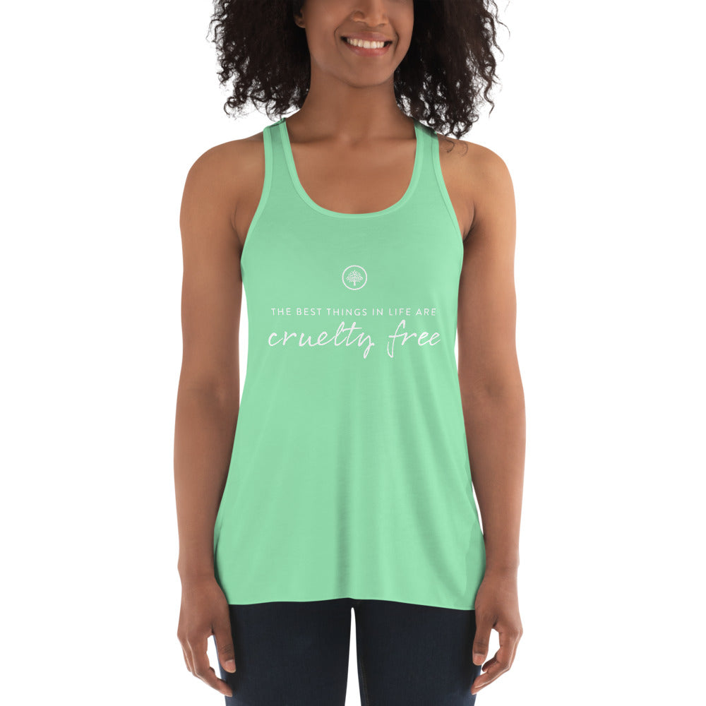 Best Things In Life Are Cruelty Free Flowy Tank