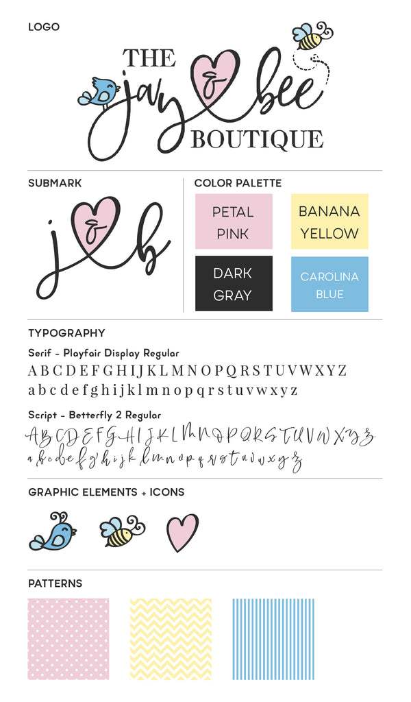 The Jay and Bee Brand Style Guide