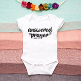 Answered Prayer Baby Bodysuit - Rainbow Outfit - Christian Baby One Piece - 1 Samuel 1 27 Baby Bodysuit - Miracle Baby Bodysuit