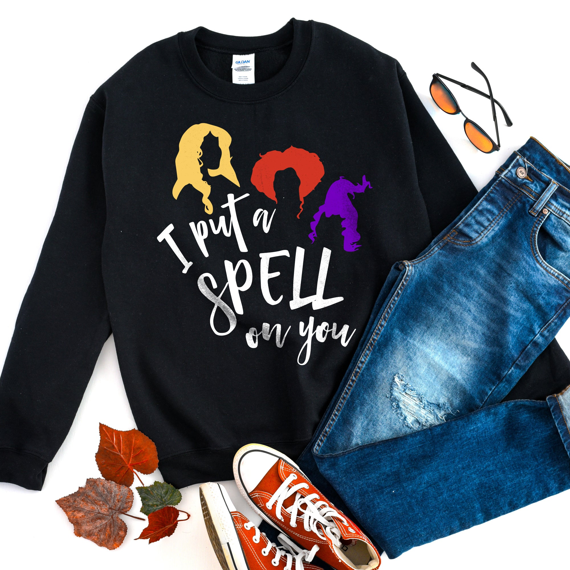I Put a Spell on You Sweatshirt Halloween Shirt Cute Funny Halloween Shirt Halloween Witch Sweatshirt Halloween Sweater