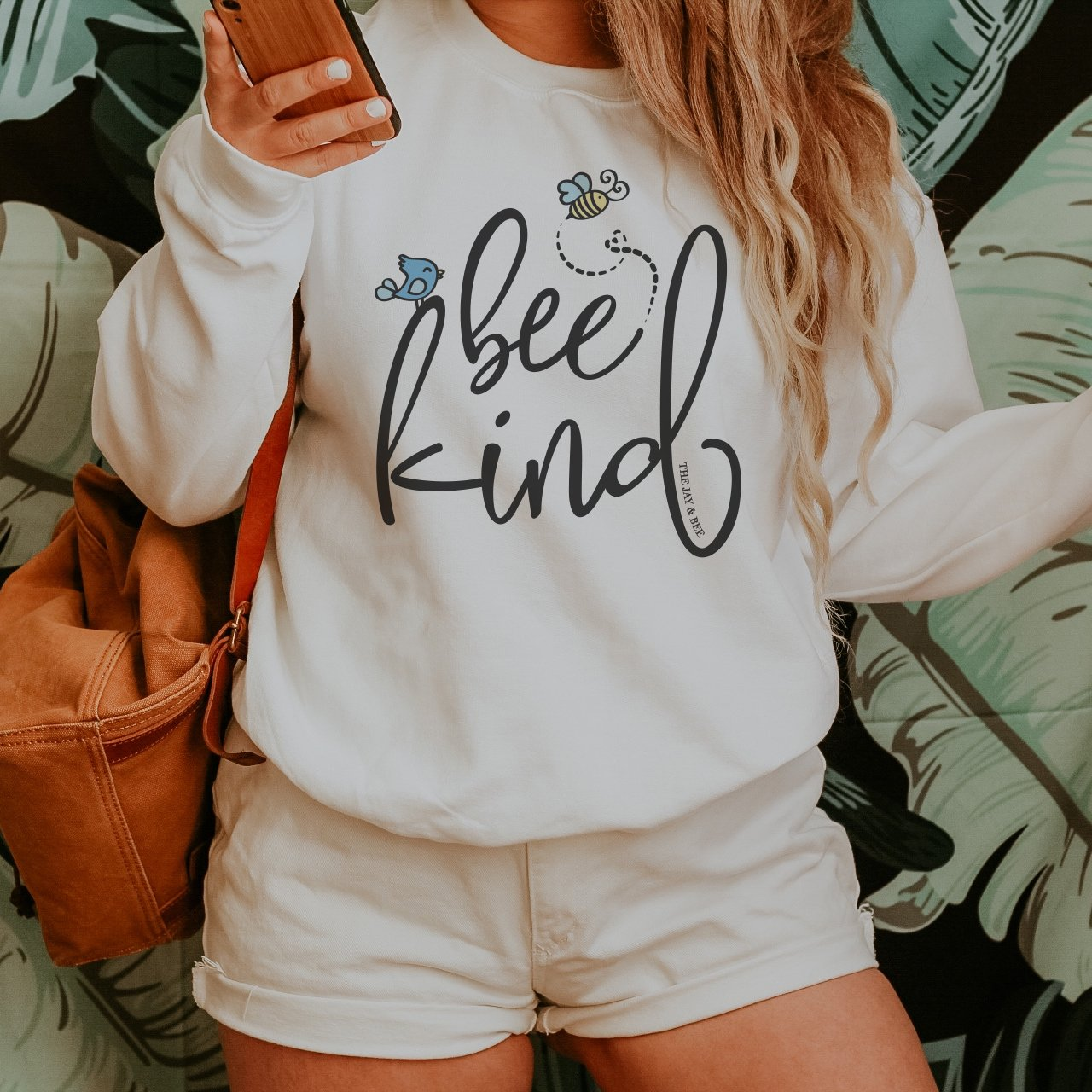 Bee Kind Sweatshirt - Be Kind Sweatshirt - Kindness Sweater - Positivity Sweatshirt - The Jay and Bee Sweatshirt - Gift for Her