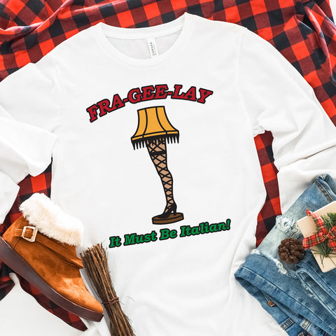 Fragile Leg Lamp Christmas Long Sleeve Shirt