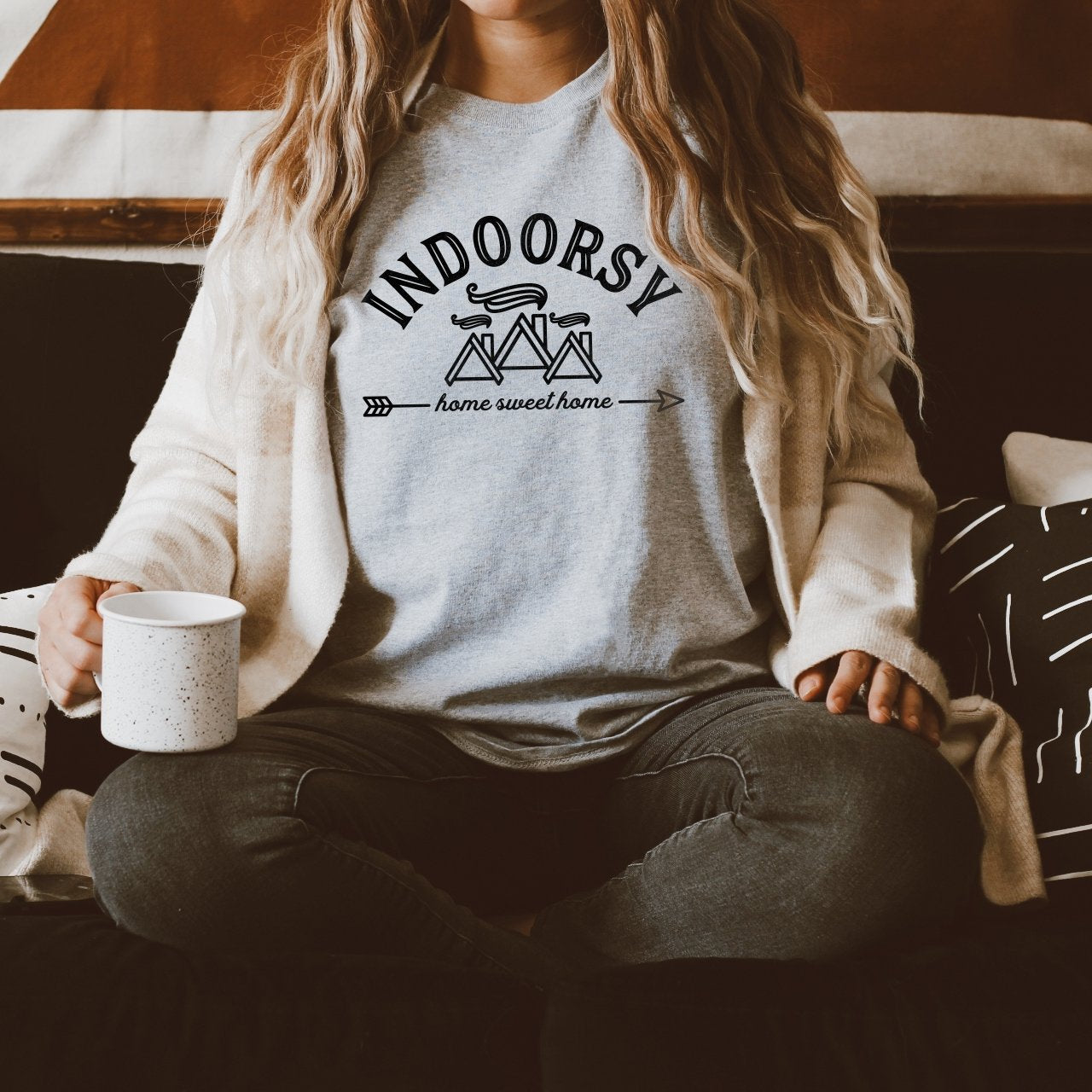 Indoorsy Shirt | Homebody Shirt | Home Sweet Home Shirt | Introvert Shirt | Gift for Her