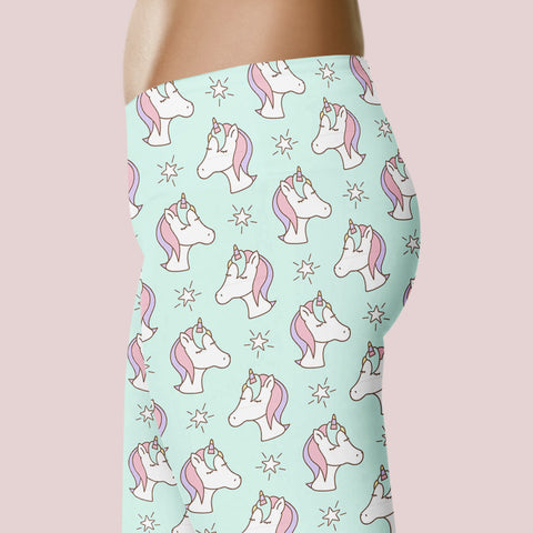 Unicorn Leggings Cute Unicorn Leggings Women Unicorn Costume Unicorn Lover Gift Unicorn Leggings Capris Yoga Pants Shorts