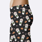 Pumpkin Spice Latte Leggings Pumpkin Spice Lover Pumpkin Leggings Cute Fall Leggings Cute Pumpkin Spice Print Leggings Shorts Yoga Pants Yoga Leggings Capris