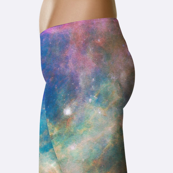Galaxy Leggings Celestial Dreams Watercolor Print Space Leggings Yoga Pants Yoga Shorts Capri Leggings