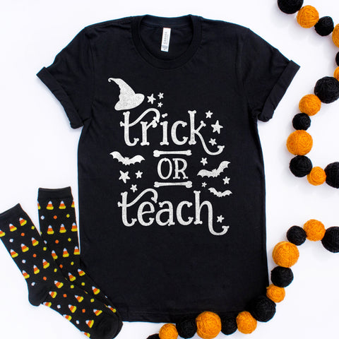 Trick or Teach Halloween Teacher Shirt
