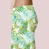 tropical leaves leggings tropical summer leggings hawaii paradise leggings hawaiian vacation leggings
