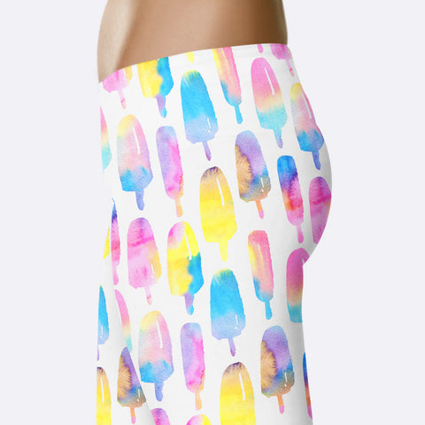 Popsicle Leggings Cute Summer Print Leggings Bright Cute Rainbow Leggings