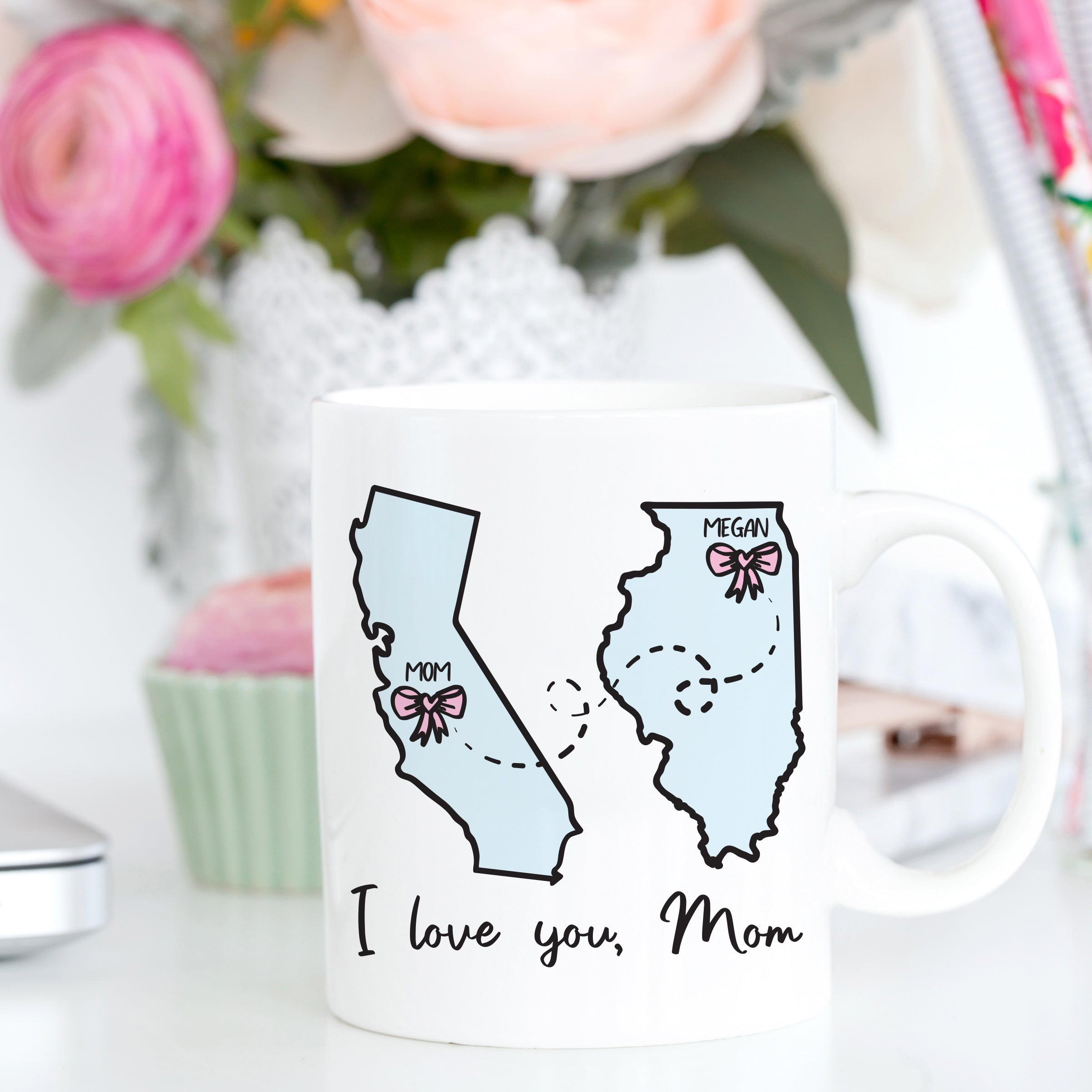 Long Distance Mug for Mom Mother's Day Gift Mother's Day Mug Home Is Where My Mom Is Mug Mother Daughter Long Distance Gift