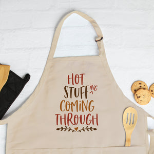 Thanksgiving Apron Thanksgiving Gift Hot Stuff Coming Through Funny Thanksgiving Apron Hot Stuffing Coming Through