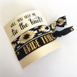 bridesmaid hair ties will you help me tie the knot hair tie favors bride tribe