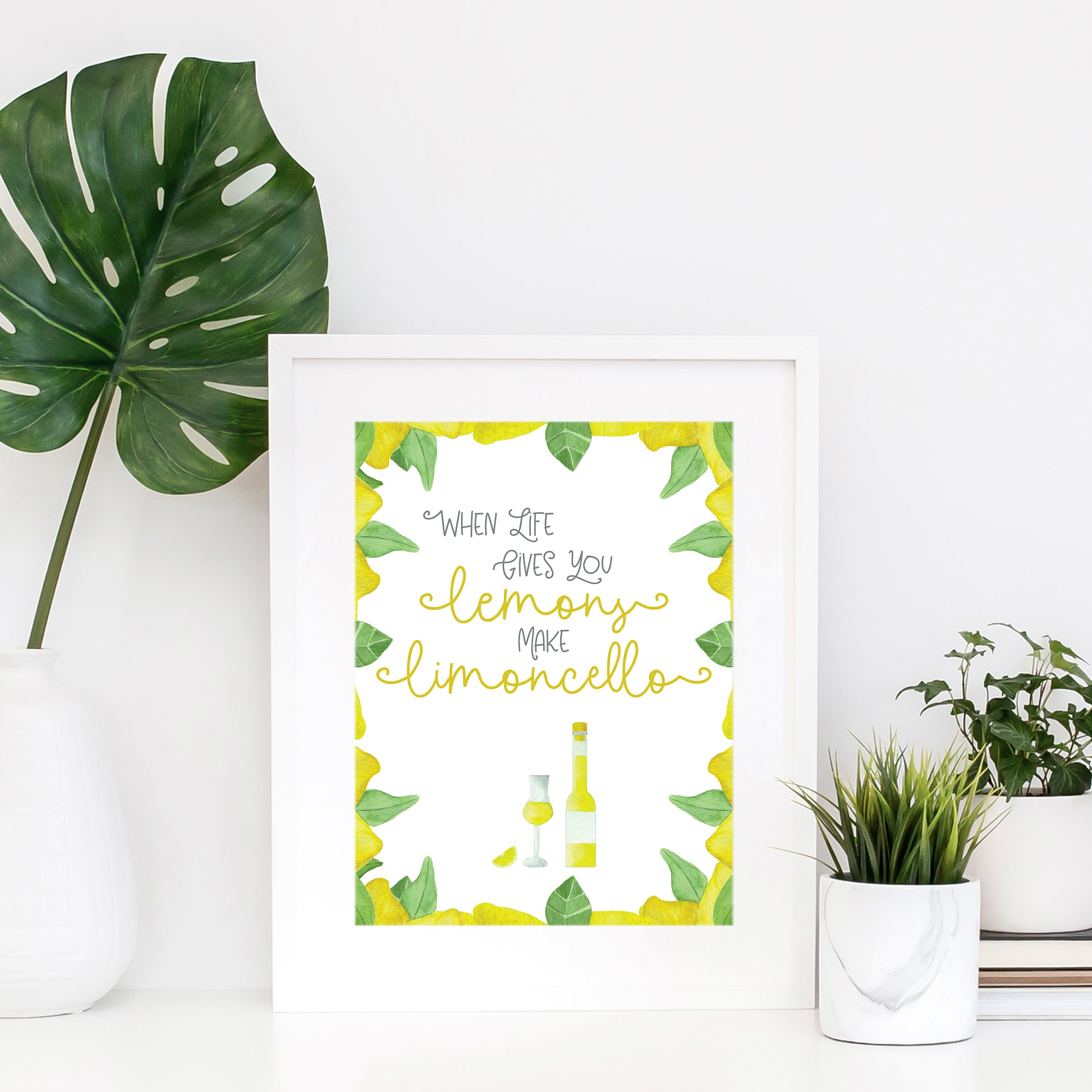 When Life Gives You Lemons Make Limoncello Wall Print Wall Art Home Decor